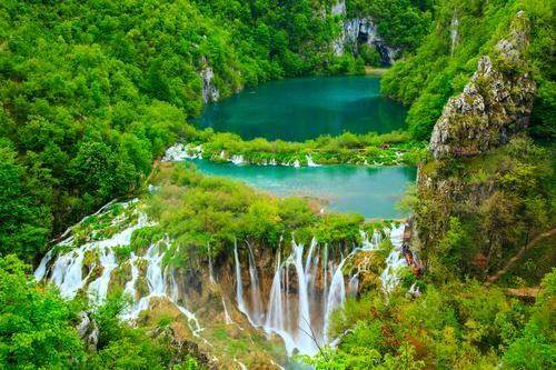 Waterfalls in Plitvice National Park, Croatia